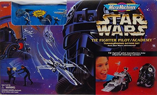 (Star Wars Micro Machines Tie Fighter Pilot/Academy - Transforming Action Set)