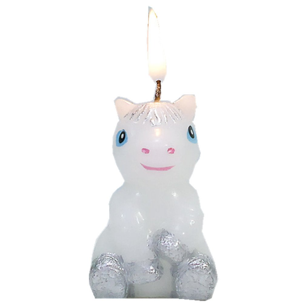 none-branded Birthday Candles Cake Topper Cake Decorations Cartoon Animal Party Decorations for Birthday Parties (Little Horse)