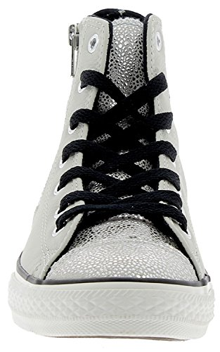 Zip Argento Star Side Hi All Converse 655161c Leather wAOZII