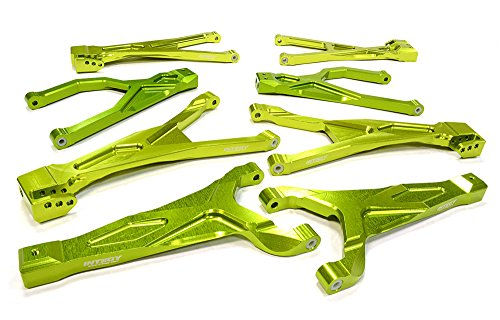 Integy RC Hobby C25904GREEN Billet Machined Suspension Kit for Traxxas 1/10 Scale Summit 4WD
