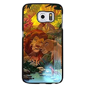 Samsung Galaxy S6 Edge Plus Cartoon The Lion King Phone Case, Warming Style Disney Anime The Lion King Phone Accesorry Fit on Samsung Galaxy S6 Edge Plus