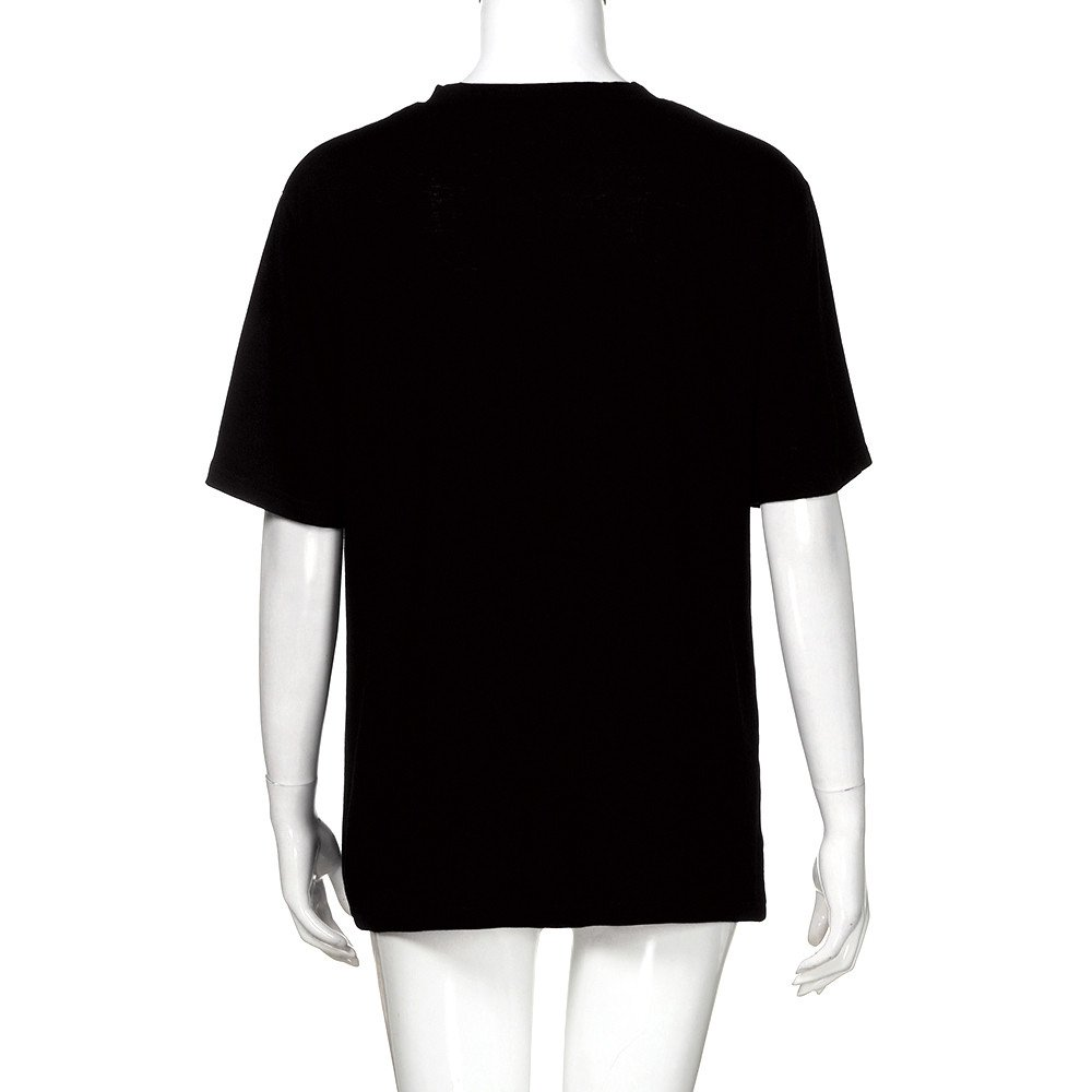 Camiseta Suelta de Manga Corta para Mujer con Estilo O-Neck Top MOMOXI Tops//Camiseta//Blusa para Mujer