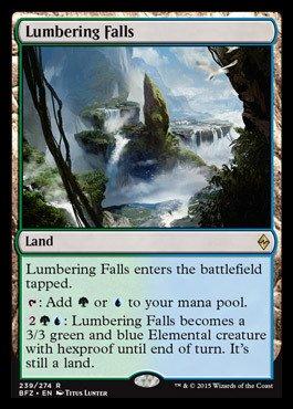 Magic: the Gathering - Lumbering Falls (239/274) - Battle for Zendikar - Foil