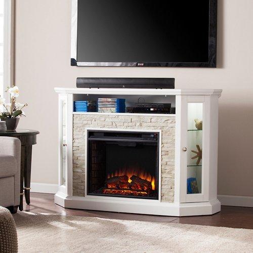 Southern Enterprises Redden Corner Electric Fireplace TV ()