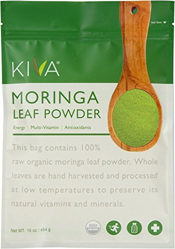 Kiva Organic Moringa Leaf Powder - Non-GMO and RAW - (1 Pound) (Benefits Of Moringa Leaves In Weight Loss)