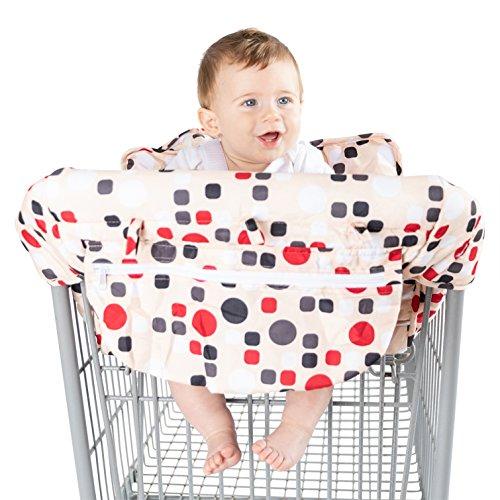 (Baby Shopping Cart Cover by BABEL'E (Polka Dot))