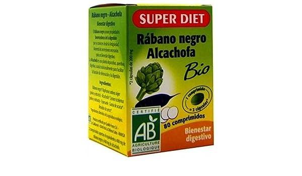 Rábano Negro y Alcachofa 80 comprimidos de Super Diet: Amazon.es: Salud y cuidado personal