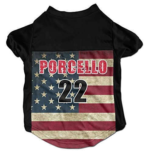 (Rick Porcello Red Sox Costumes, Clothing, Shirt, Vest, T-shirt, Puppy Pet Dog Cat Fashion 100% Polyester Fiber Tee Gift For Any Animal Fan Lovers Black Small)