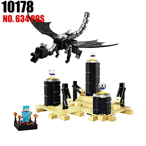 Best choise product My Word 10178 legoing minecrafted Enderdragon 634 pcs Building Block Assemblage s for Children Compatible with legoings 21117