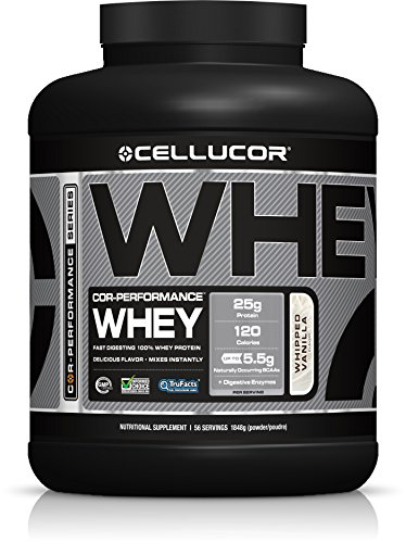 Cellucor, COR-Performance Whey Protein Powder, Post Workout Recovery Drink with BCAAs & Whey Protein Isolate, G3, Whipped Vanilla, 56 Servings