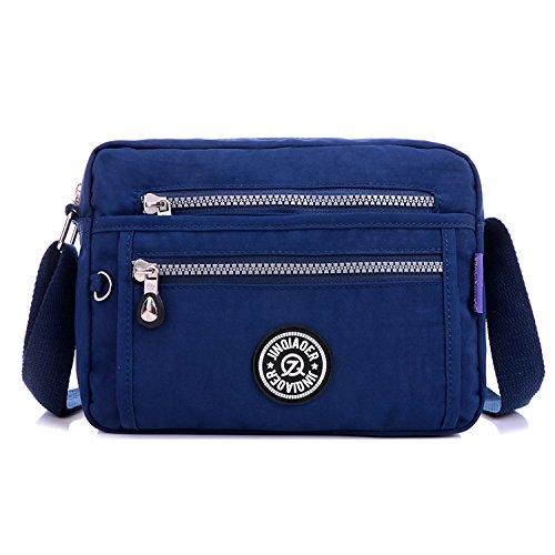 Moda Impermeable Sport de de de Bolsa Grandes Bag Bolsas Bolsos Bandolera Baratos Bolsos MeCooler Messenger Bolso Mano Bolsos Escolares Viaje para Mujer Azul qwxgxXn1