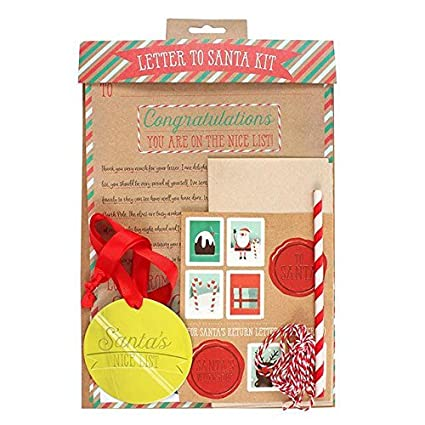 Amazon christmas letter to and from santa nice list medal christmas letter to and from santa nice list medal pencil stickers activity set spiritdancerdesigns Images