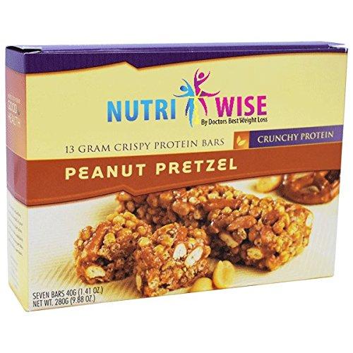 NutriWise - Peanut Pretzel Crispy Diet Protein Bars (7 bars) by NutriWise