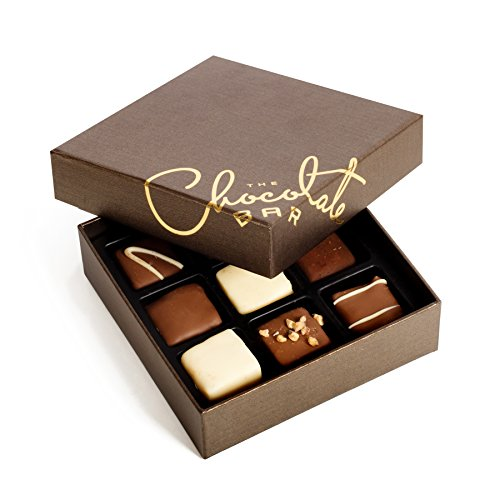 The Chocolate Bar – Premium Handmade Dairy Belgian Chocolate Gift Box – 9 Pieces – Finest Belgian Chocolate Truffles