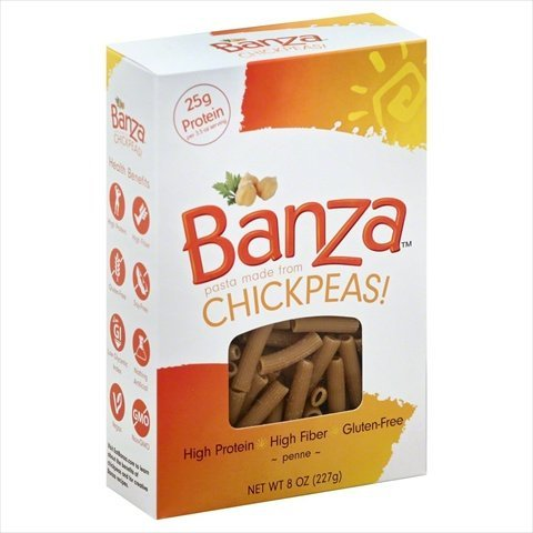 Banza Chickpea Penne Pasta: High Protein & Lower Carb (6-pack) (Penne) by BANZA