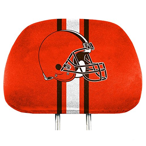 Team ProMark NFL Cleveland Browns Full-Print Head Rest Covers, 2-Pack