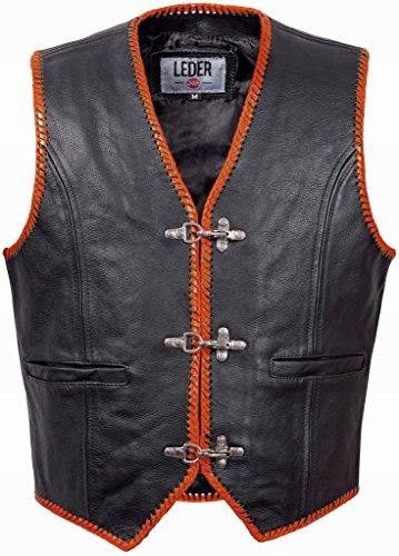 Biker Cuero Club De Chaleco Hombre 1036 Rocker tw5q58U