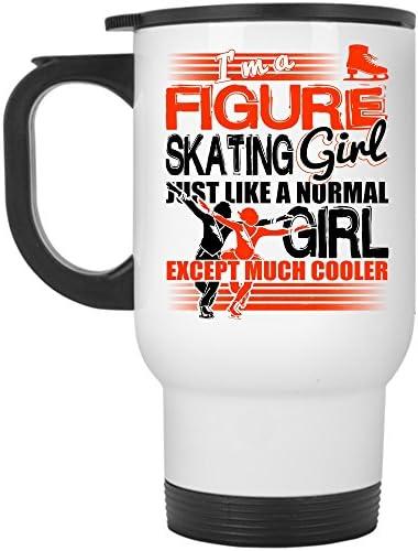 Amazon Com Best Gift For Figure Skating Girl Travel Mug I M A Figure Skating Girl Mug Travel Mug White Kitchen Dining