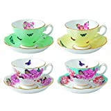 Royal Albert Miranda Kerr Teacups and Saucers (Set of 4), Multicolor