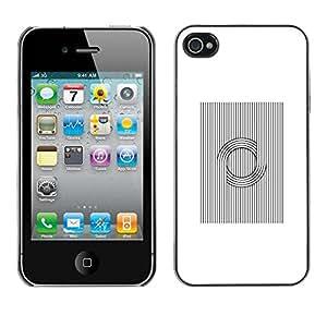 LASTONE PHONE CASE / Slim Protector Hard Shell Cover Case for Apple Iphone 4 / 4S / Viking Pattern Nordic Black White