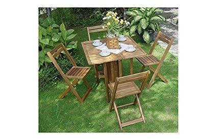 Concept garden M259470 - Conjunto madera acacia fsc mesa ...