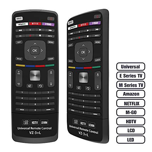 Gvirtue Universal Remote Control Compatible Replacement for Vizio E Series TV/ M Series TV/ HDTV/ LCD/ LED, Smart Internet Apps with Amazon, Netflix & M-GO Keys, Sub XRT112 XRT100 VR1 2 10 15 etc (Vizio Control Remote M420nv)