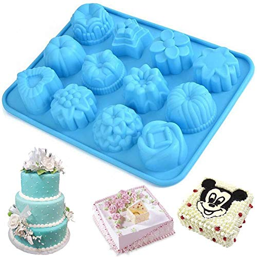 Silicone Cupcake Mold Muffin Cake Chocolate Candy Cookie Baking Mould Pan Tool c