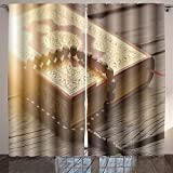 Homesonne islamic holy book quran Room Bedroom Curtains 2 Panels for Kids Room Window Treatments 84x108 Inche