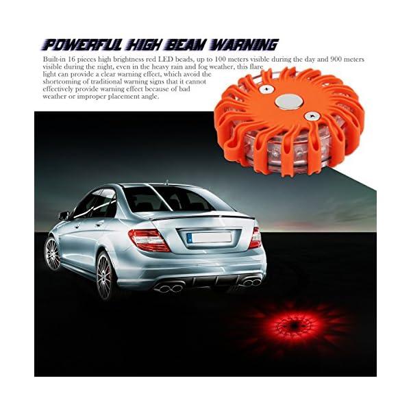 Indicadores luminosos de seguridad LED para carretera Luces de seguridad recargables para el automóvil 9 modos Linterna… 10