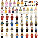 Maykid Minifigures Set of 48+22 Includes Building Bricks Community People