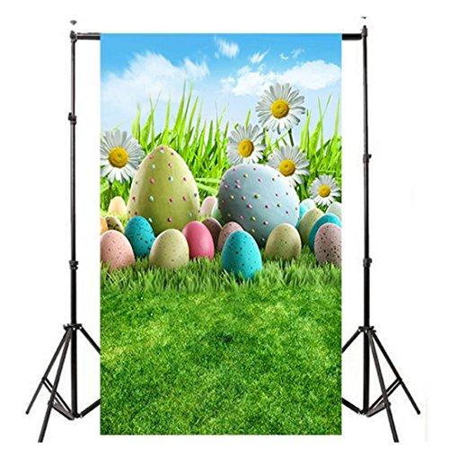 (YJYdada Easter Day Theme Vinyl Photography Backdrop Custom Photo Background Props (D))