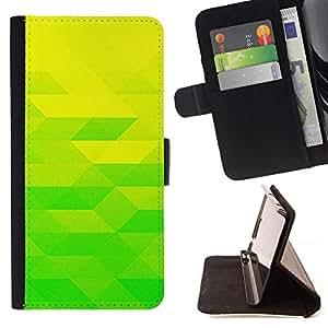 Momo Phone Case / Flip Funda de Cuero Case Cover - Amarillo verde lima;;;;;;;; - HTC Desire 626