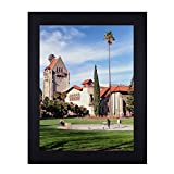 Adeco 12x16 inch Matte Black Wood Decorative Wall Hanging Print Picture Photo Frame - Made to Display 12x16 Photo or Poster