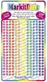 "Map Dot Stickers - Assorted Colors (Transparent - 1/8"" Diameter"