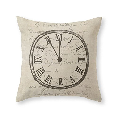 Society6 Script Clock 3 Throw Pillow Indoor Cover  with pill