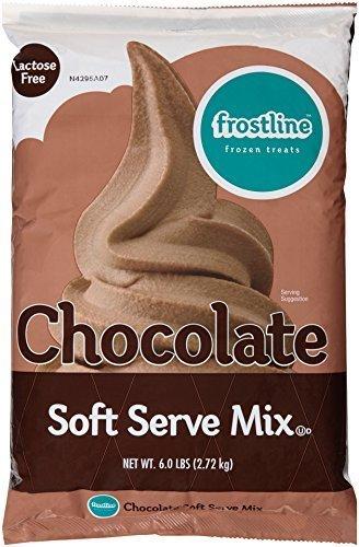 Frostline Chocolate Soft Serve Ice Cream Mix Bag, 6 lb., Large