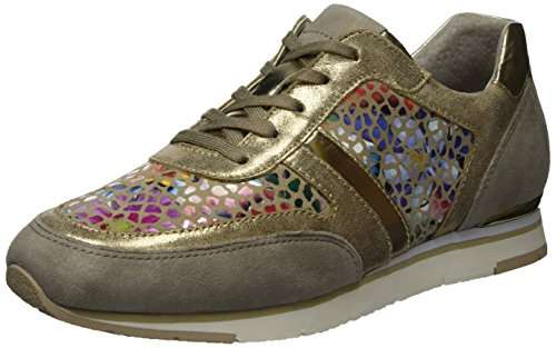 Fashion Women's Gabor Low Top Brown Sneakers T1wpFzwx