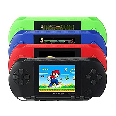 SkyGold 16 bit Handheld Game Console Portable Video Game 150 Games Retro Megadrive PXP?Black? from LONGMARCH