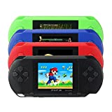 SkyGold 16 bit Handheld Game Console Portable Video Game 150 Games Retro Megadrive PXP(Black)