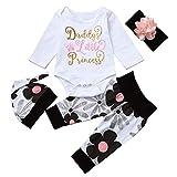 Best Newborn Outfits - Cute 4PCs Newborn Kids Baby Girl Daddy Little Review