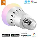 Cheap WiFi Smart LED Light Bulb,A19,Dimmable Multicolored Color Changing Lights Bulb,compatible with Amazon Alexa (Silver)