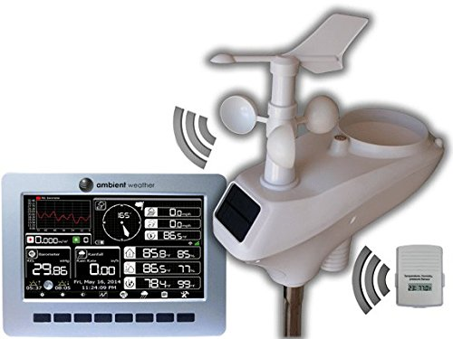 Ambient Weather WS-1201 Observer Solar Powered Wireless Weather Station with Solar Radiation and UV ()
