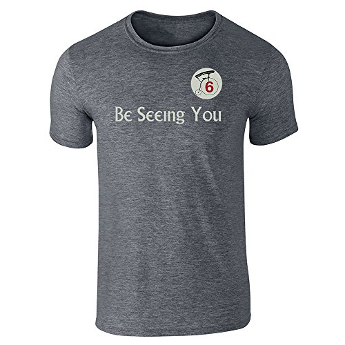 Be Seeing You Number 6 Cult Halloween Costume 60s Dark Heather Gray XL Short Sleeve T-Shirt