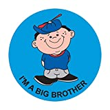 PDC Healthcare 59707288 Label,''IM A BIG BROTHER'', 2'' Circle, Blue (Pack of 250)