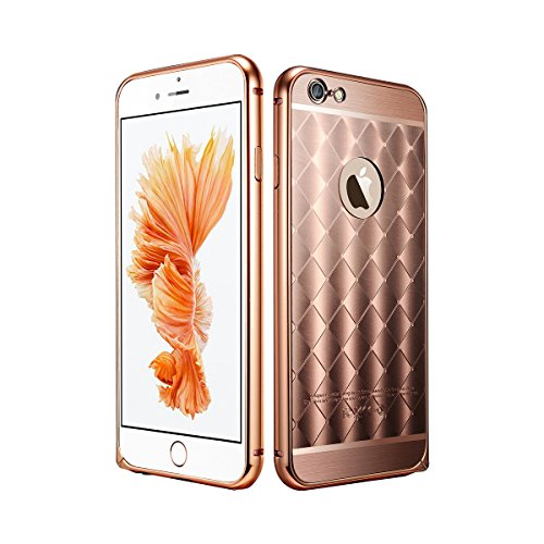 iPhone 6s case, Liujie Luxury Air Aluminum Metal Bumper + Diamond Hard Back Case, 2 In 1 Back Cover For iPhone 6 6s Case 4.7 Inch. (rose (Makeup In The 80s)