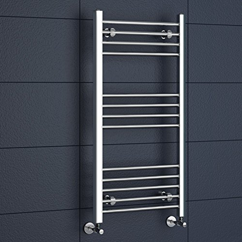 iBathUK | 1000 x 500 Straight Heated Towel Rail Chrome Bathroom Radiator - All Sizes by - Straight Rail Towel Heated