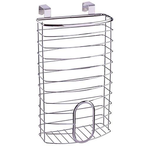 Over the Cabinet Basket Dispenser Door Grocery Plastic Bag Holder, ()