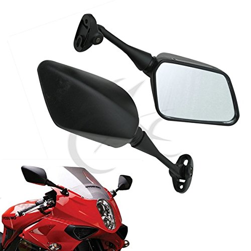 TCMT Pair of Motorcycle Black Rear View Mirrors for HYOSUNG GT125R / GT250R / GT650R / GT650S
