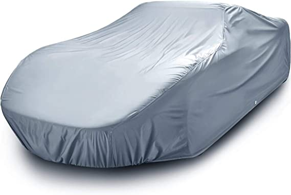 iCarCover {7-Year Full Warranty} All-Weather Waterproof Snow UV Heat Protection Dust Scratch Resistant Windproof Weatherproof Breathable Automobile Indoor Outdoor Auto Car Cover - for Cars Up to 185