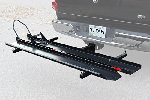 Receiver Hitch Motorcycle Carrier - Titan Ramps Sport BIke Motorcycle Carrier Rack Hitch Hauler Ramp Truck Cargo Pick Up 600lb Capacity